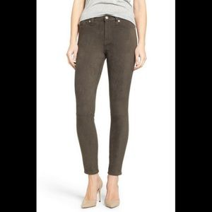 7 For All Mankind Gwenevere Faux Suede Ankle Jeans